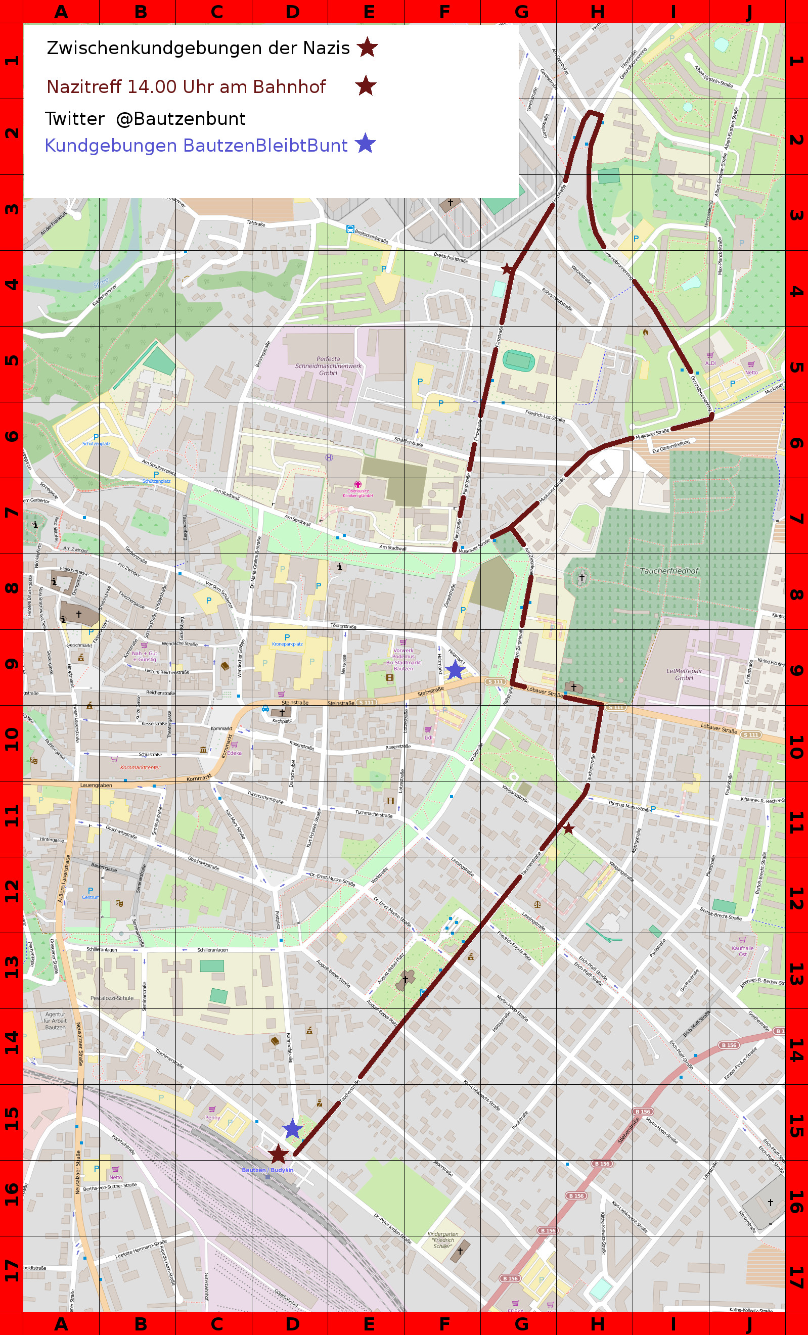 Aktionskarte Bautzen 07.11.2015